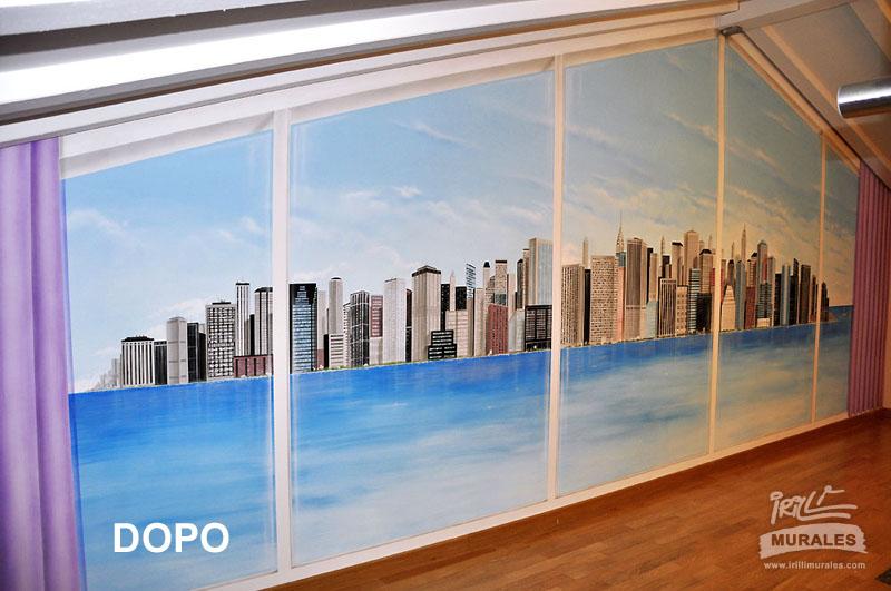 vista su new york - irilli murales - Camera Da Letto Tema New York
