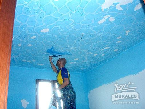 Murales Cameretta Bambini : La cameretta diventa un acquario irilli murales