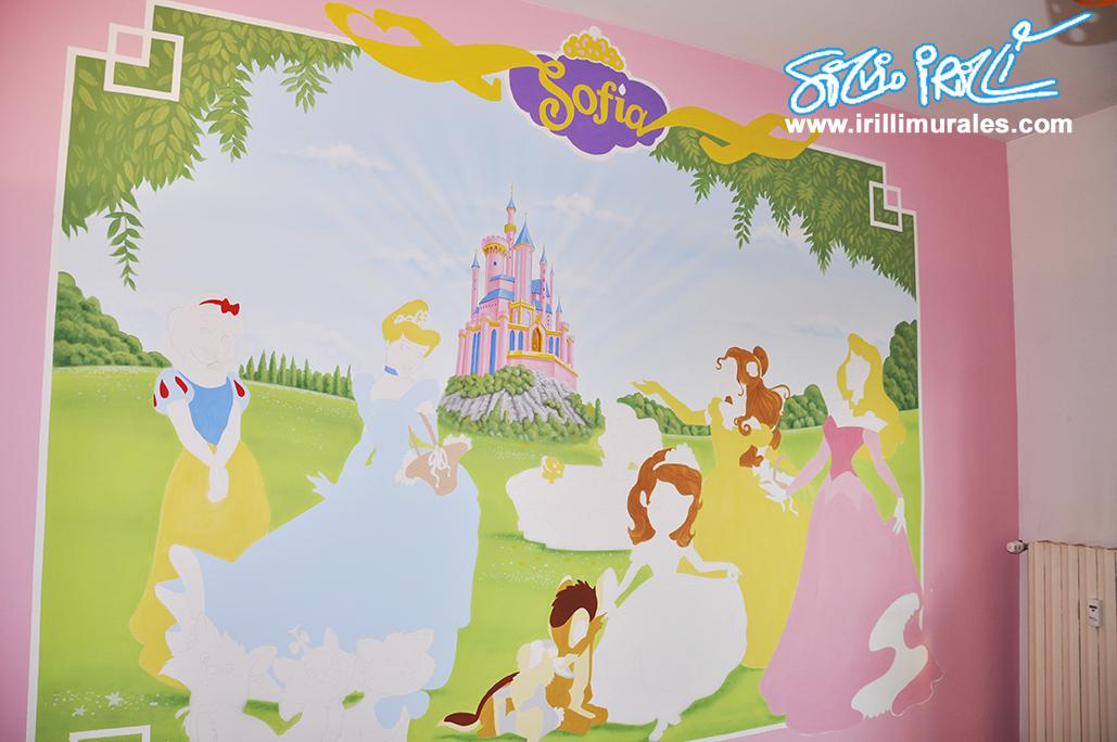 Cameretta principesse irilli murales - Murales cameretta bimbi ...