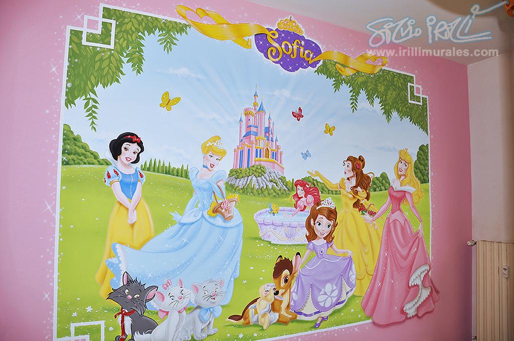 Cameretta principesse irilli murales - Cameretta delle principesse ...