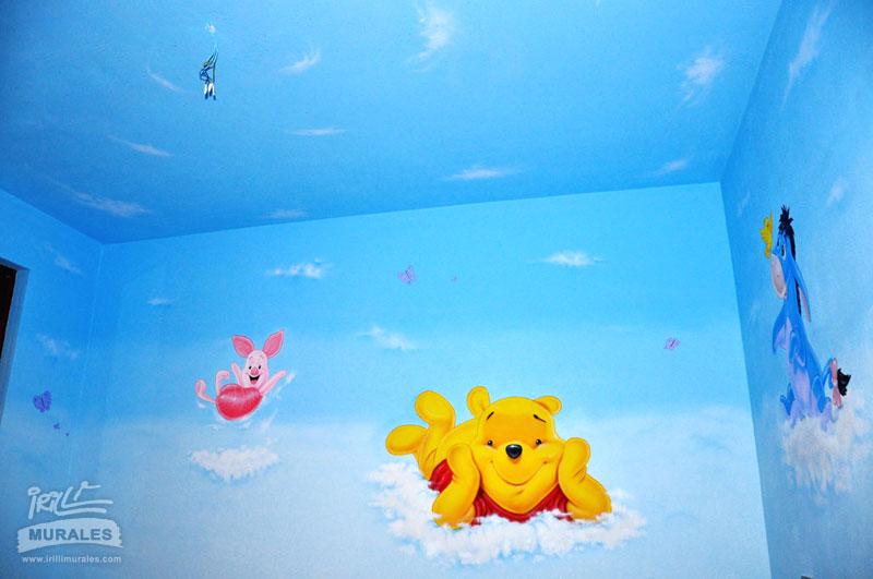 IRILLI MURALES - Murales per Cameretta con il tema di Winnie the Pooh