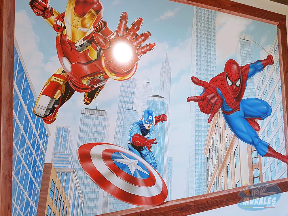 murales_supereroi_iron_man_spiderman_capitan_america