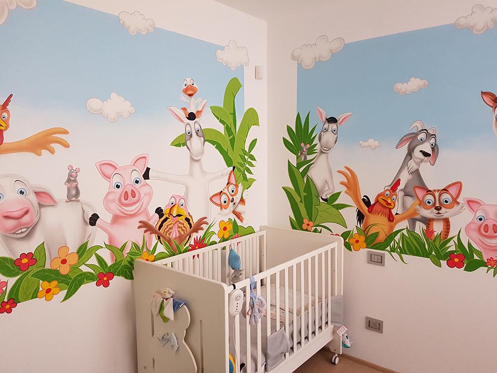Murales Per Interni Casa.Murales Di Silvio Irilli Murales Personalizzati Per Camerette Asili