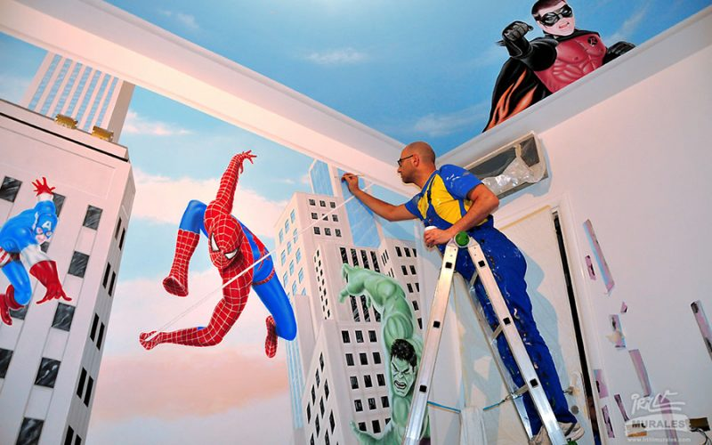 murales supereroi