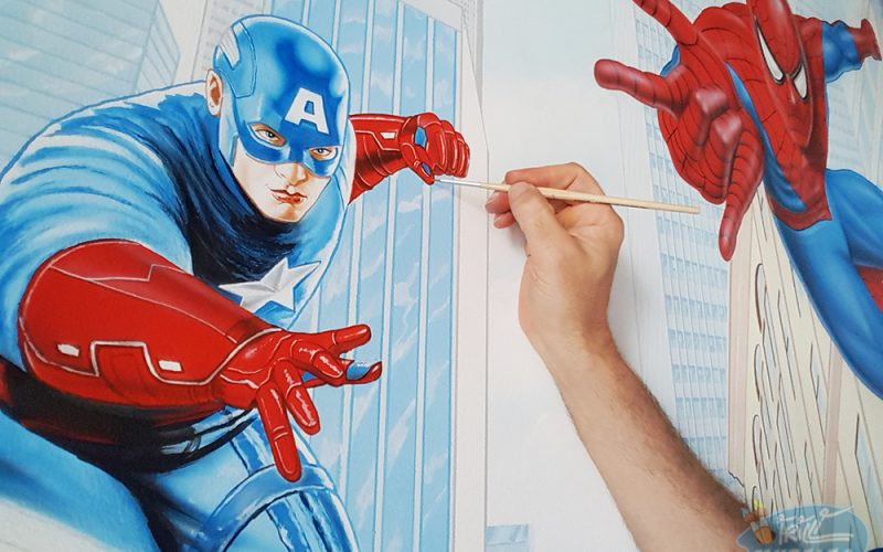 murales_supereroi_iron_man_spiderman_capitan_america2