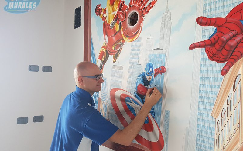 murales_supereroi_iron_man_spiderman_capitan_america7